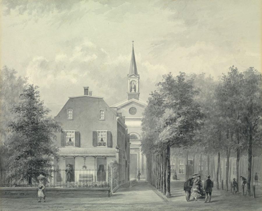 Het Lindenplein - 1878