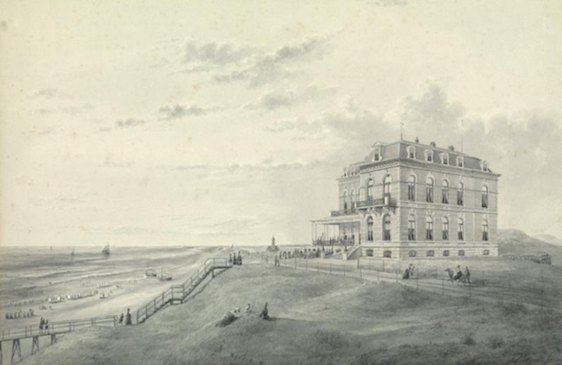 Hotel Huis ter Duin met trap – 1885